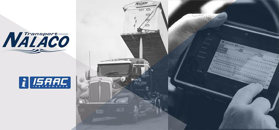 Transport Nalaco va de l'avant avec la solution de télémétrie d'ISAAC Instruments